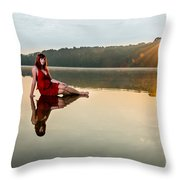 Courtney On The Water Throw Pillow