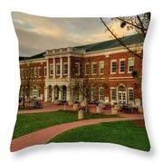 Courtyard Dining Hall - Wcu Throw Pillow