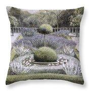 Courtyard Garden Throw Pillow