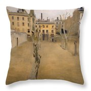 Courtyard Of The Old Barcelona Prison. Courtyard Of The Lambs Throw Pillow