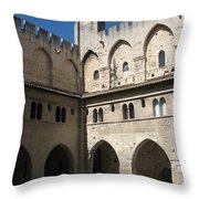 Courtyard - Palace Avignon Throw Pillow