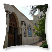 Courtyard To The Coptic Church Throw Pillow