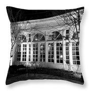 Courtyard View Throw Pillow