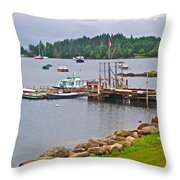 Cove In Glen Margaret-ns Throw Pillow