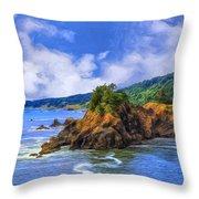 Cove On The Oregon Coast Throw Pillow