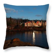 Cove Point Lodge Throw Pillow
