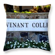 Covenant College Sign Throw Pillow