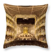 Covent Garden Theatre, From Microcosm Throw Pillow