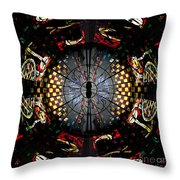 Coventry Cathedral Windows Montage Throw Pillow