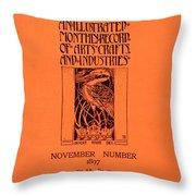 Cover For The Artist Magazine, November 1897 Throw Pillow