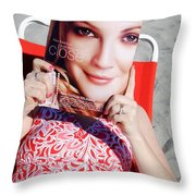Cover Girl Throw Pillow