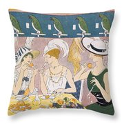 Cover Illustration From La Baionnette Throw Pillow