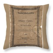 Cover Of Tamerlane Throw Pillow