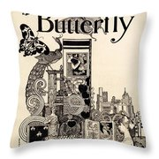 Cover Of The Butterfly Magazine Throw Pillow
