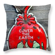 Cover The Earth Throw Pillow