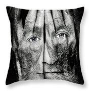 Cover Thy Faces Throw Pillow
