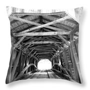 Covered Bridge Architecture Throw Pillow