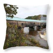 Covered Bridge  Bath Throw Pillow