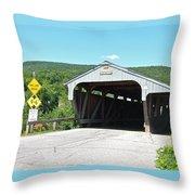 Covered Bridge For Pedestrians Throw Pillow