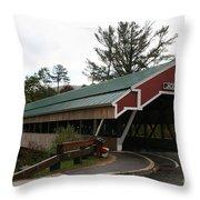 Covered Bridge Jackson Throw Pillow