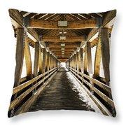 Covered Bridge Littleton New Hampshire Throw Pillow