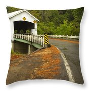 Covered Bridge Rochester 1 Throw Pillow