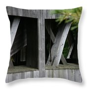 Covered Bridge Windows  Throw Pillow