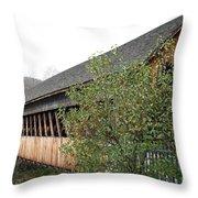 Covered Bridge - Woodstock - Vermont Throw Pillow