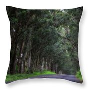 Covered By Trees Throw Pillow