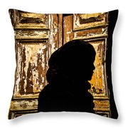 Covered Silhouette Throw Pillow by Joshua Van Lare