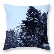 Covered Snow Trees Throw Pillow