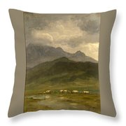 Covered Wagons Throw Pillow