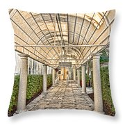 Covered Walkway Throw Pillow
