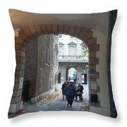 Covered Walkway Of London Throw Pillow