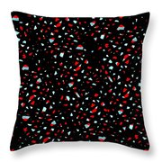 Covering Up Red Throw Pillow