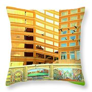 Covington Kentucky View From The Ferry Throw Pillow