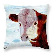 Cow A Bunga Throw Pillow