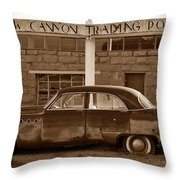 Cow Canyon Trading Post 1949 Throw Pillow