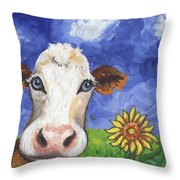 Cow Fantasy One Throw Pillow