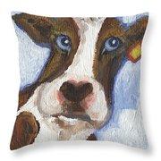 Cow Fantasy Two Throw Pillow