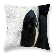 Cow Left Profile Throw Pillow