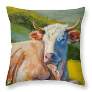 Cow Lying Down  Throw Pillow