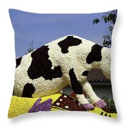 Cow On Clog 3 Throw Pillow