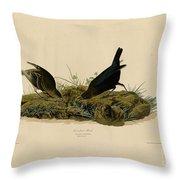 Cow-pen Bird Throw Pillow
