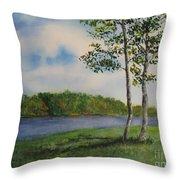 Cowan Lake Throw Pillow