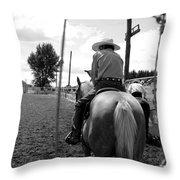Cowboy 1 Throw Pillow