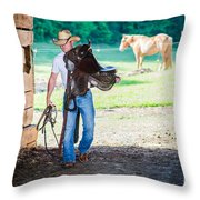 Cowboy 2 Throw Pillow