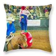 Cowboy And The Clown Throw Pillow