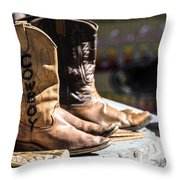 Cowboy Boots Throw Pillow