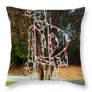 Cowboy Christmas Throw Pillow